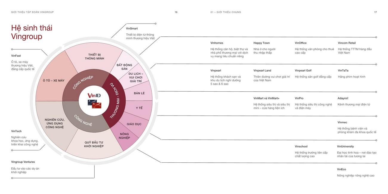 Hệ sinh thái đồng bộ của Tập đoàn Vingroup