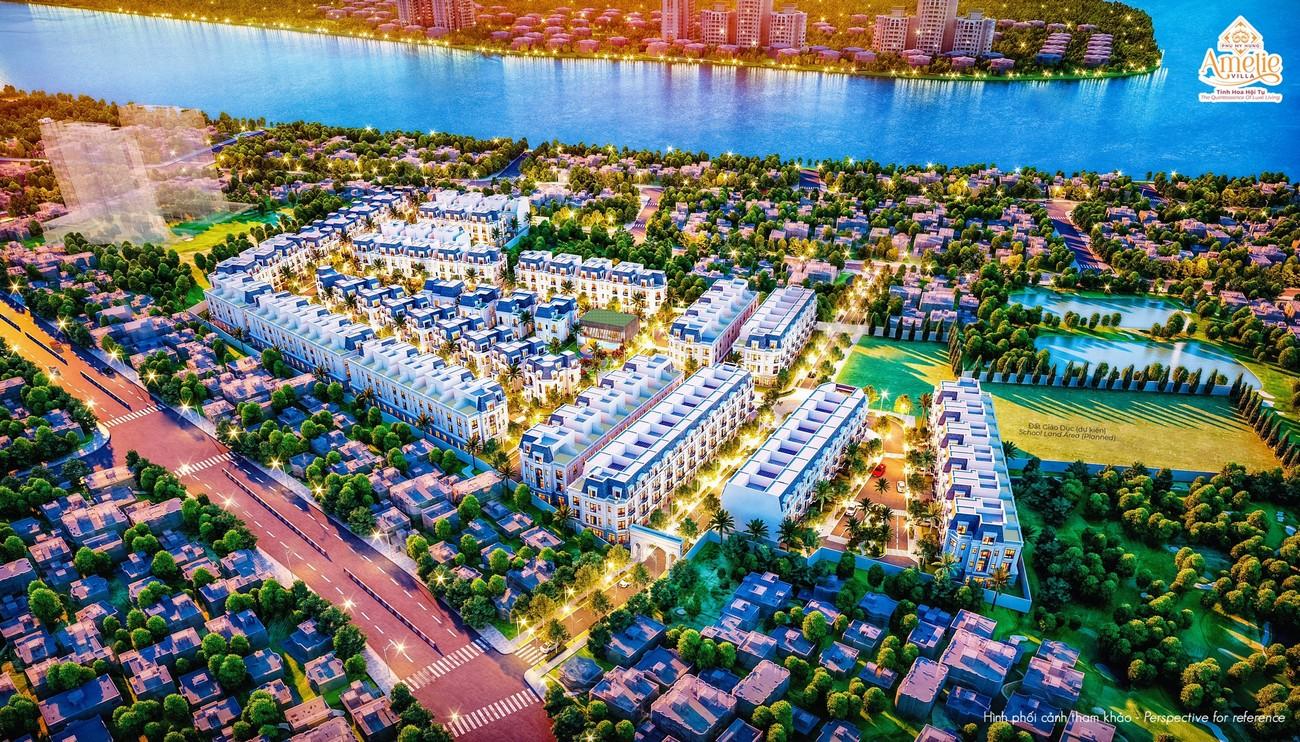 Phối cảnh dự án biệt thự Amelie Villa Phú Mỹ Hưng
