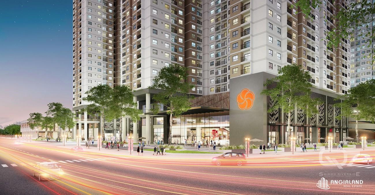 Mặt tiền dự án căn hộ chung cư Q7 Riverside Complex Quận 7