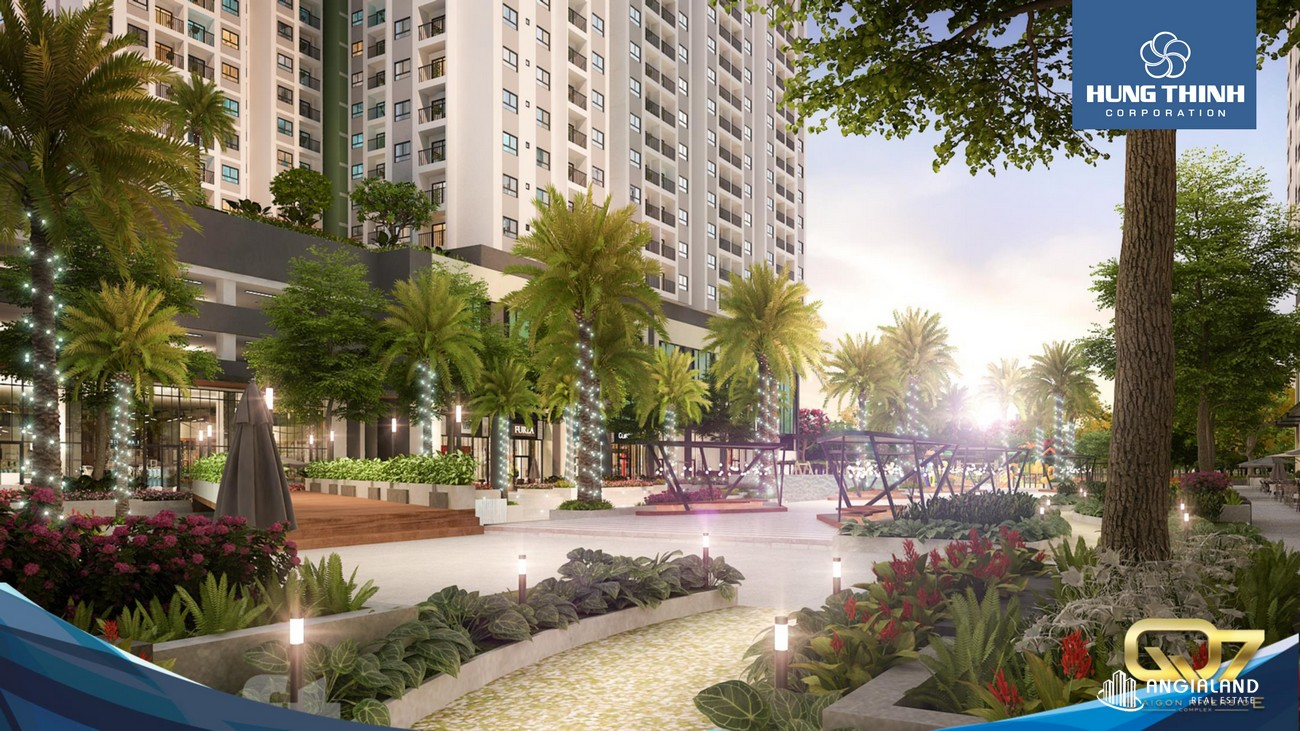 Khu vui chơi giải trí, chăm sóc sức khỏe, khu vui chơi trẻ em trong khuôn viên Q7 Saigon Riverside Complex. Chung cư chiếm hữu nhiều hồ bơi tràn lớn xây cất xen kẽ từng khu dự án Đường chạy bộ ven sông xung quanh dự án Q7 Saigon Riverside Complex. Khu thể thao và sinh hoạt cộng đồng.