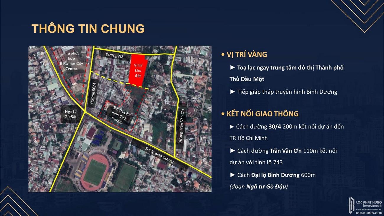Vị trí địa chỉ dự án Căn Hộ chung cư Happy One Central Phú Hòa Đường Đại Lộ Thủ Dầu Một chủ đầu tư Ốc Vạn Xuân