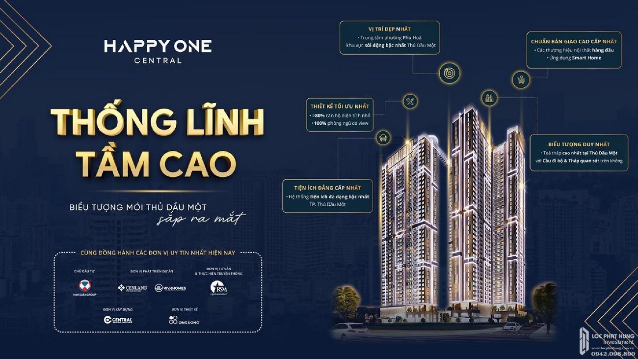 Mua bán cho thuê dự án Căn Hộ chung cư Happy One Central Phú Hòa Đường Đại Lộ Thủ Dầu Một chủ đầu tư Ốc Vạn Xuân
