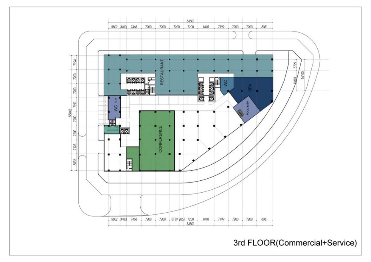 Mặt bằng dự án Condotel Apec Mandala Wyndham Huế Hương Thủy Khu Đô Thị An Vân Dương chủ đầu tư Apec Group