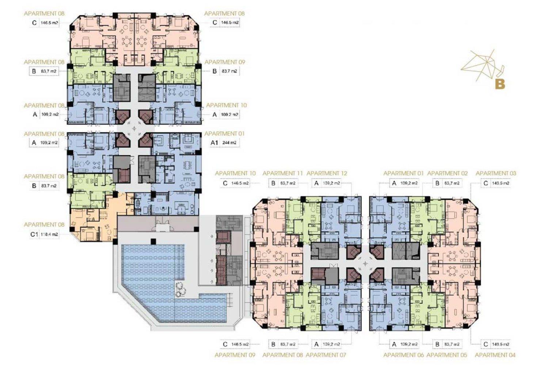 Mặt bằng tổng thể dự án Apec Dubai Ninh Thuận đường yên Ninh của chủ đầu tư Apec Group