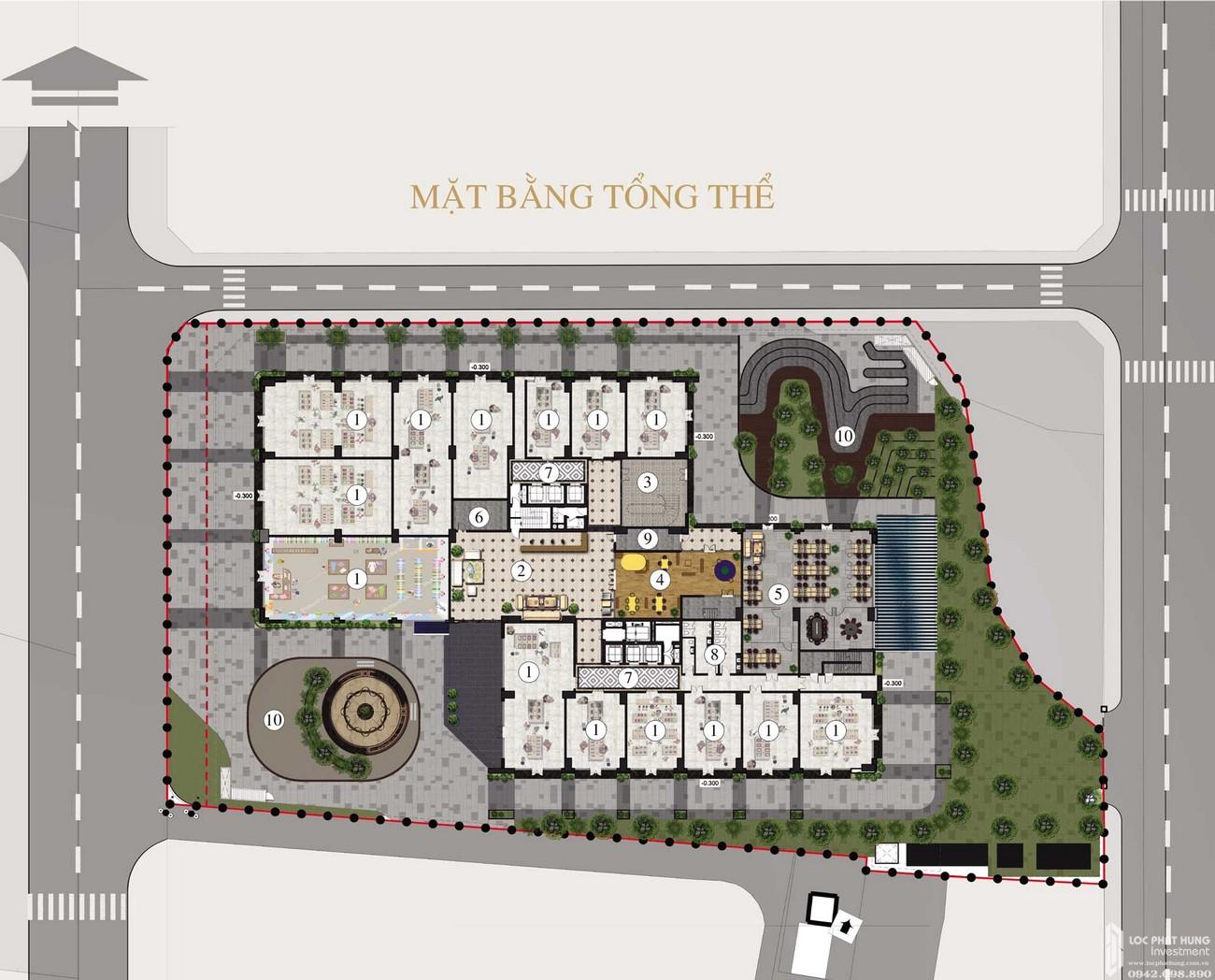 Mặt bằng dự án căn hộ chung cư Apec Golden Palace Lạng Sơn đường Lê Đại Hành chủ đầu tư Apec Group
