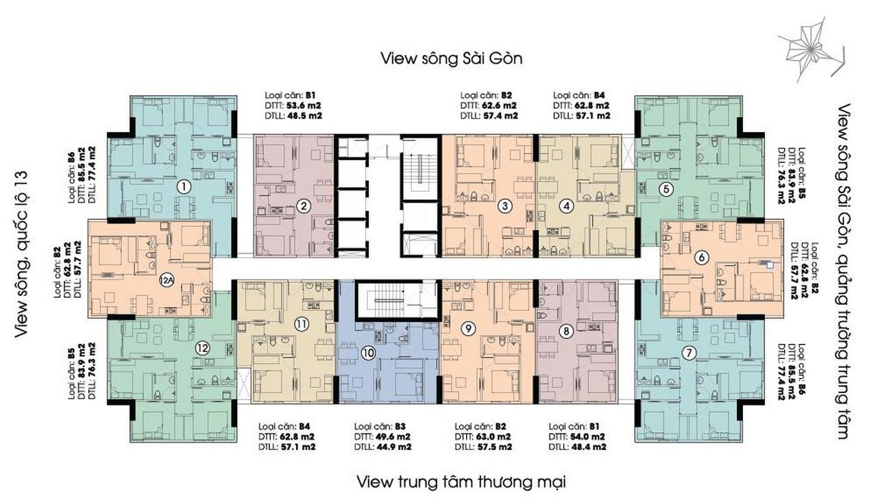 Mặt bằng dự án căn hộ chung cư LDG River Quận Thủ Đức Đường 623 Quốc lộ 13 chủ đầu tư LDG Group