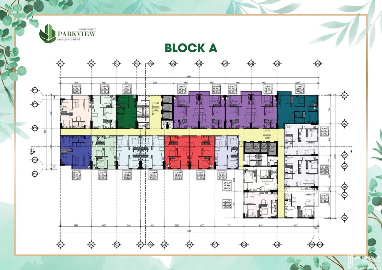 Mặt bằng dự án căn hộ chung cư Parkview Apartment Thuận An