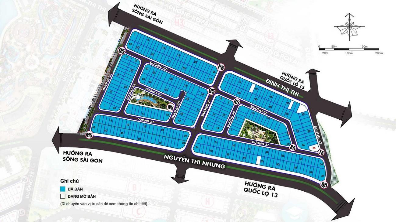 Mặt bằng phân lô Vạn Phúc Golden Khu Đô Thị Vạn Phúc City Quận Thủ Đức Đường Quốc lộ 13 chủ đầu tư Vạn Phúc Group