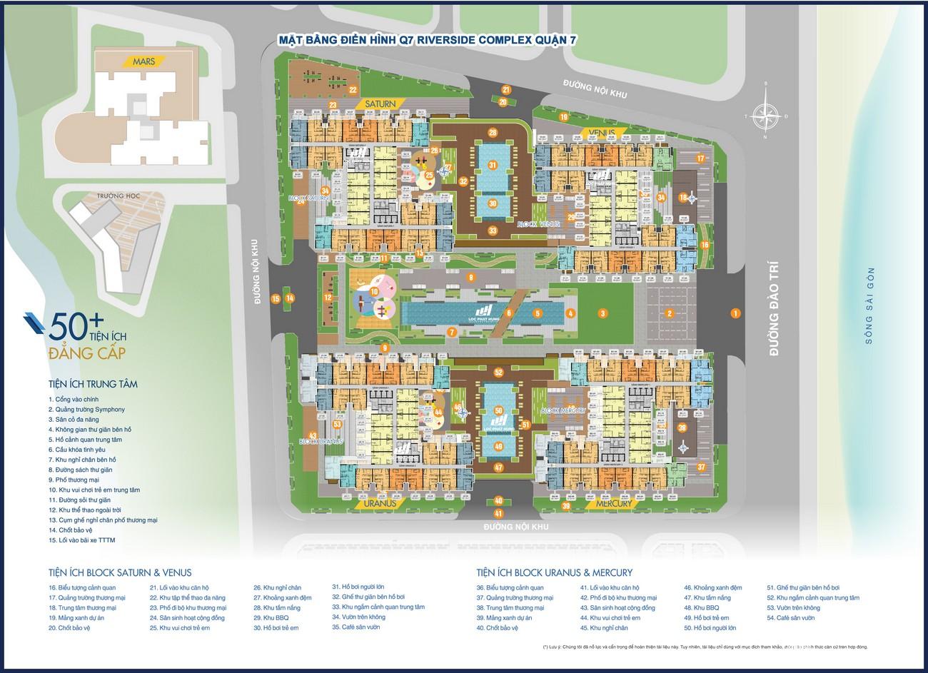 Mặt bằng dự án căn hộ chung cư Q7 Riverside Complex Quận 7