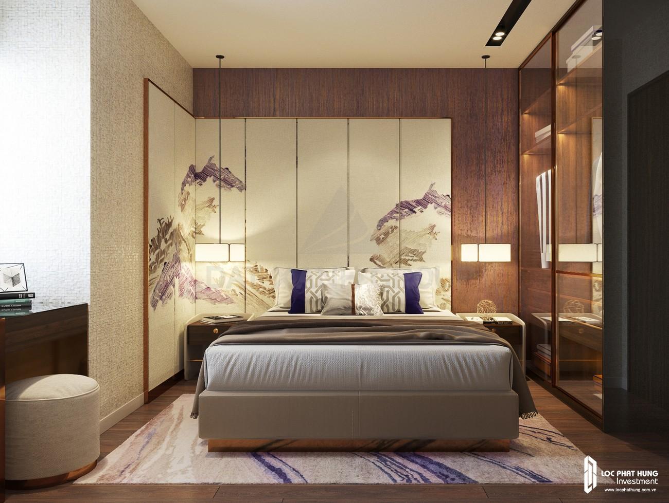 Thiết kế phòng ngủ 3 của nhà mẫu loại 3 phòng ngủ dự án căn hộ chung cư Opal Skyline Thuận An