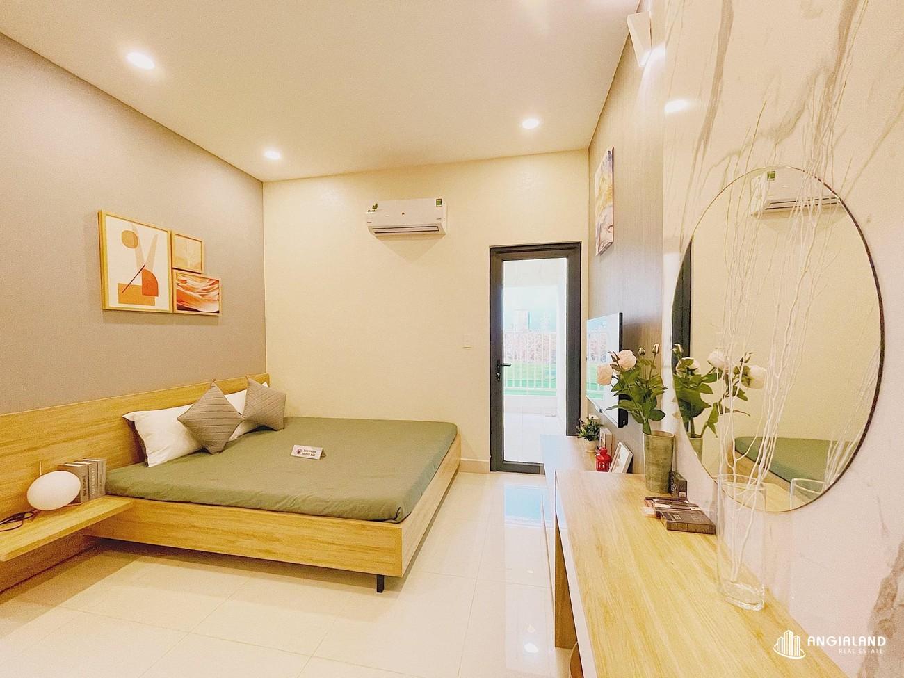 Phòng ngủ 1 nhà mẫu 59m2 Parkview Apartment Thuận An Bình Dương