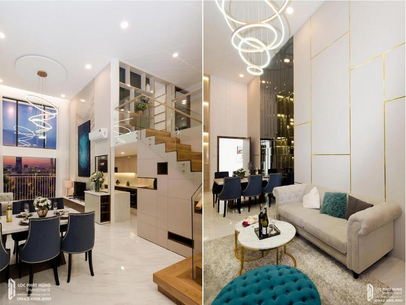 Thiết kế căn hộ mẫu có lửng dự án chung cư La Consmo Residences Quận Tân Bình