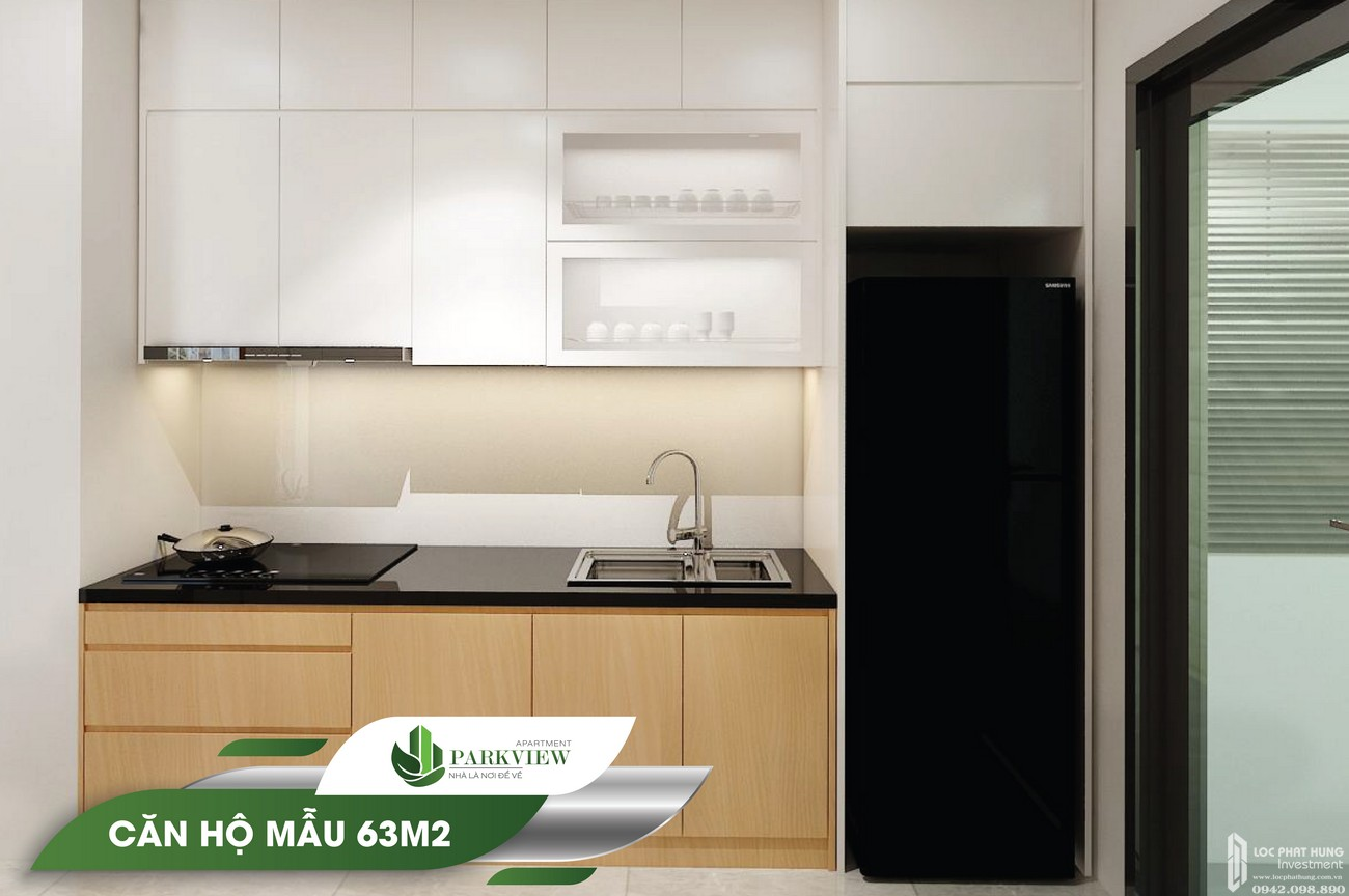 Nhà mẫu dự án căn hộ chung cư Parkview Apartment 63m2 Thuận An