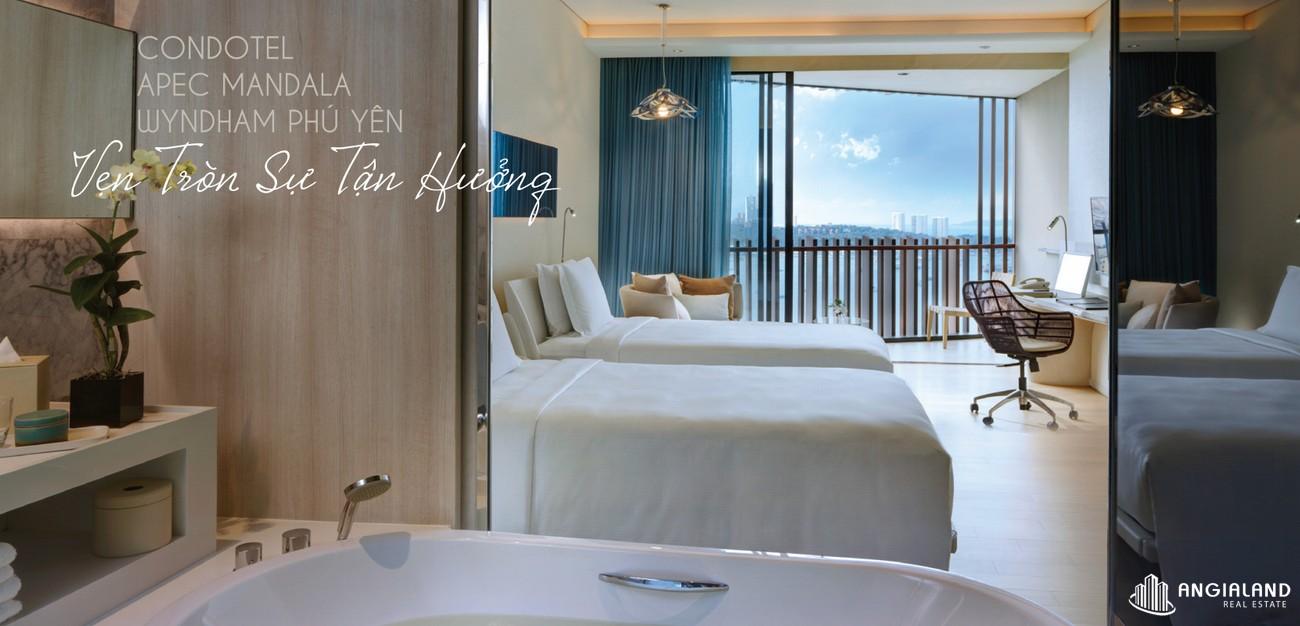 Nhà mẫu dự án căn hộ condotel Apec Mandala Wyndham Phú Yên chủ đầu tư Apec