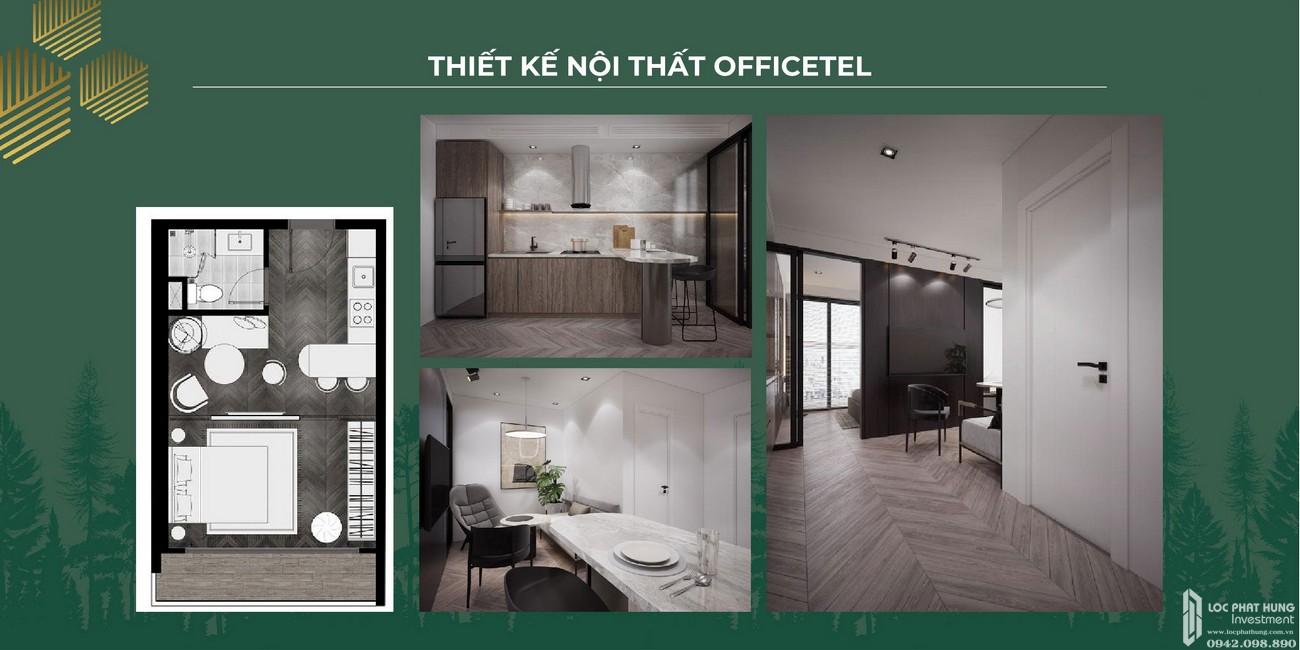 Nội thất căn officetel dự án căn hộ chung cư Anderson Park Thuận An Đường Quốc lộ 13 chủ đầu tư Quốc Cường Gia Lai