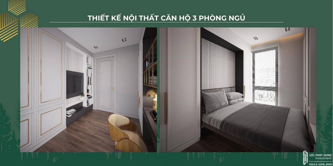 Nội thất căn 3 phòng ngủ dự án căn hộ chung cư Anderson Park Thuận An Đường Quốc lộ 13 chủ đầu tư Quốc Cường Gia Lai
