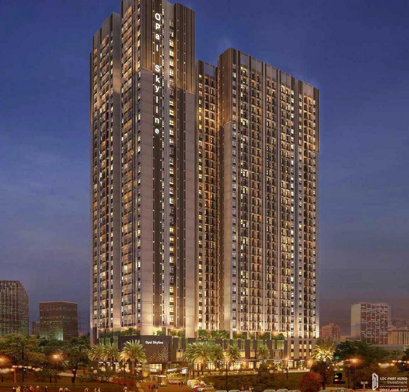 Phối cảnh tổng thể dự án Căn Hộ chung cư Opal Skyline Thuận An Đường Quốc lộ 13 chủ đầu tư Đất Xanh Group