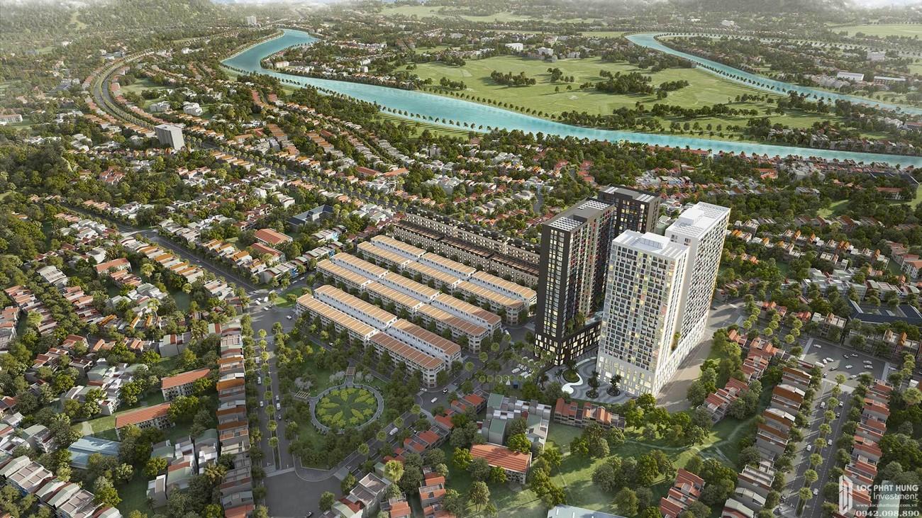 Phối cảnh tổng thể dự án căn hộ chung cư Apec Diamond Park Lạng Sơn chủ đầu tư Apec Group