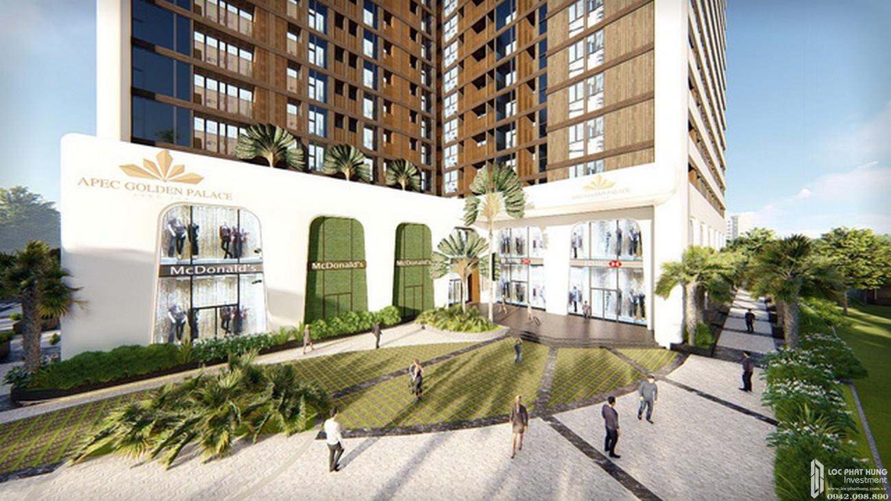 Phối cảnh tổng thể dự án căn hộ chung cư Apec Golden Palace TP Lạng Sơn đường Lê Đại Hành chủ đầu tư Apec Group