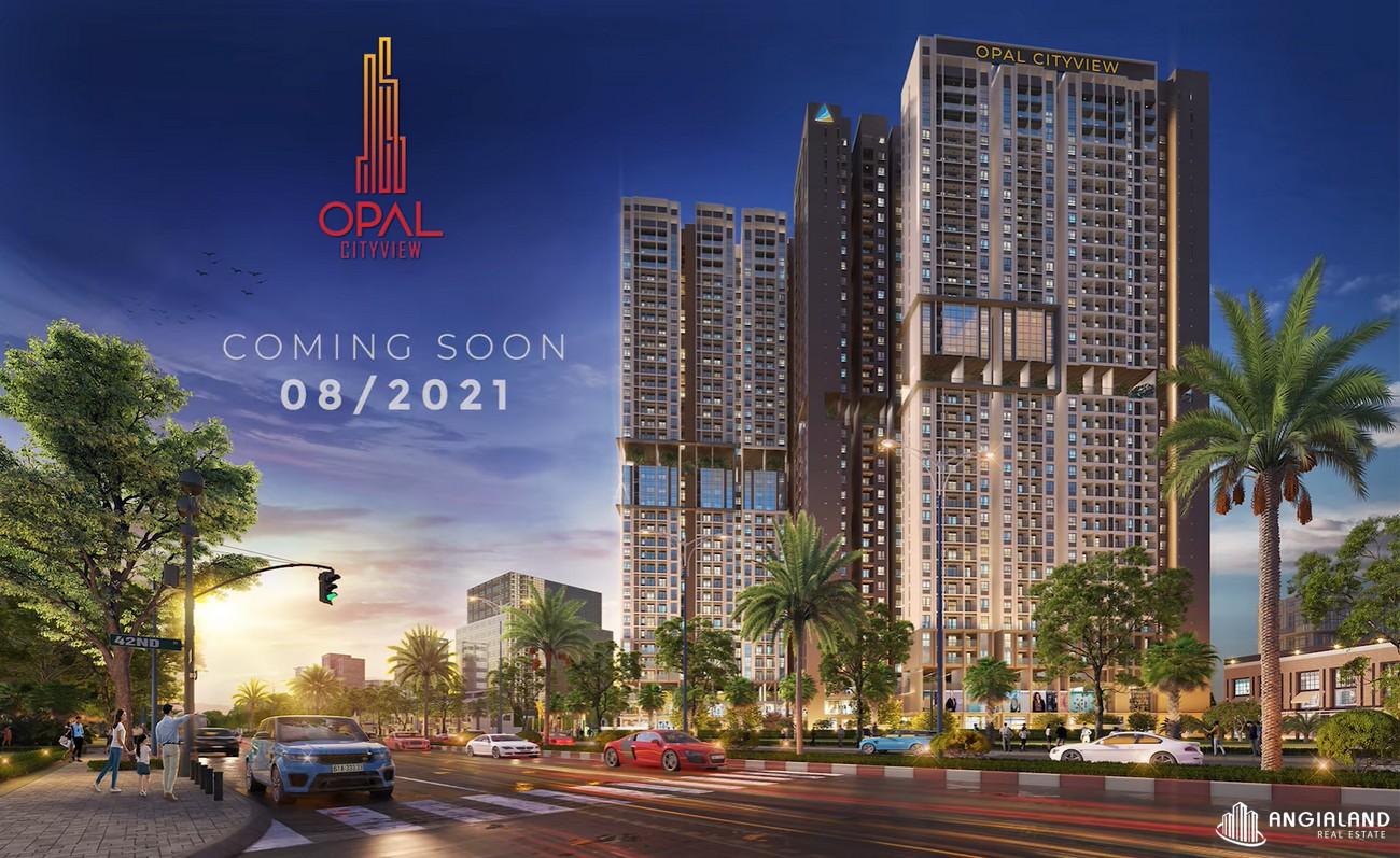 Phối cảnh tổng thể dự án căn hộ chung cư Opal Cityview Bình Dương chủ đầu tư Đất Xanh