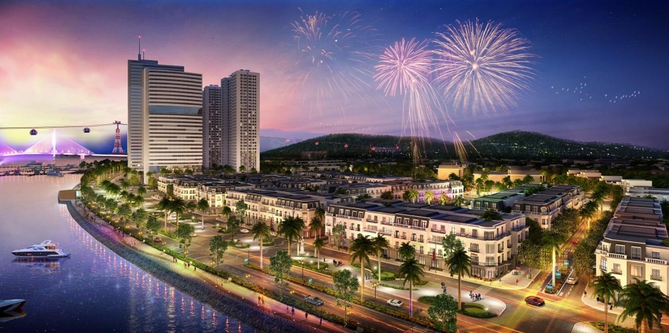 Phối cảnh tổng thể dự án condotel chung cư Apec Sầm Sơn Thanh Hóa chủ đầu tư Apec Group