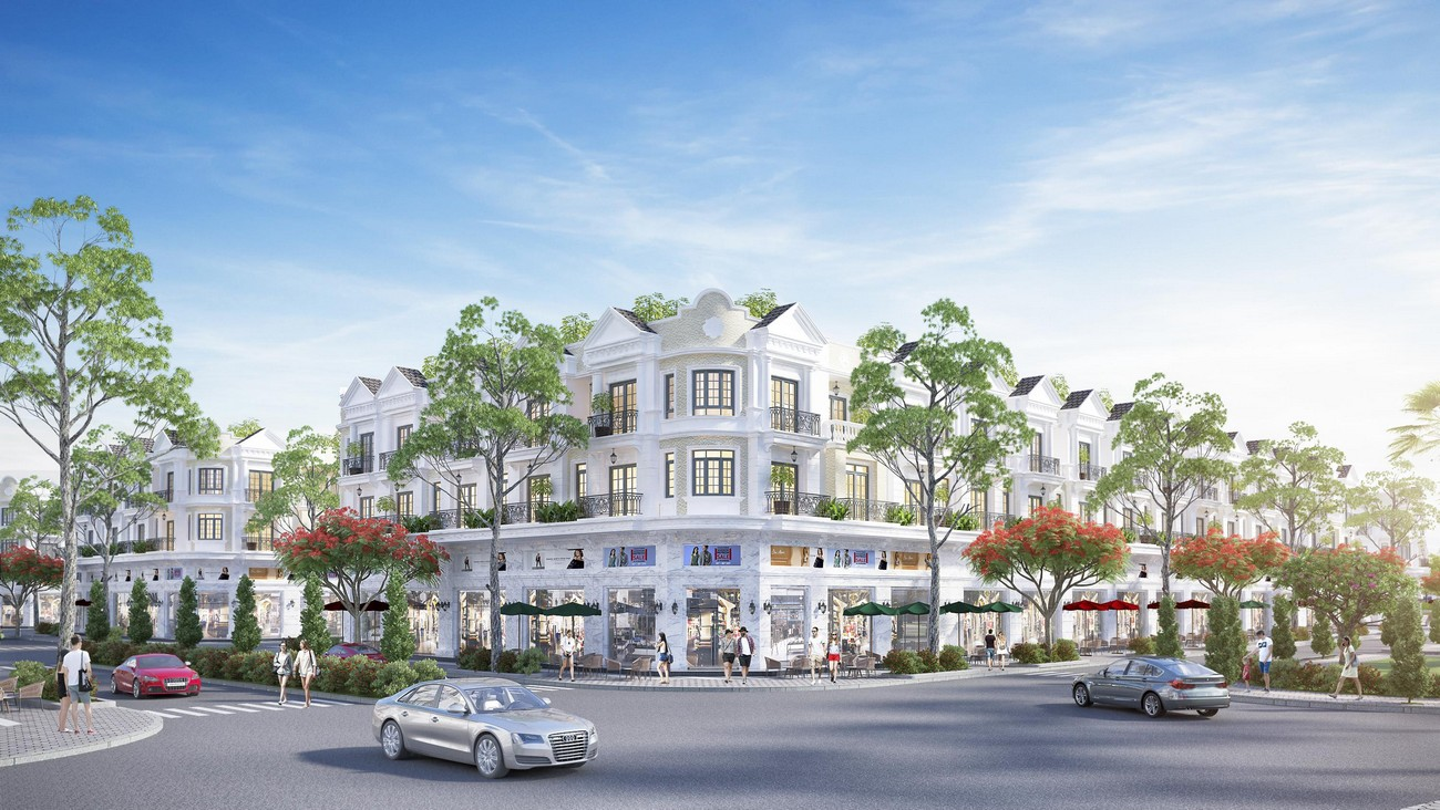 Phối cảnh tổng thể dự án nhà phố Valerich Nhơn Trạch Đồng Nai