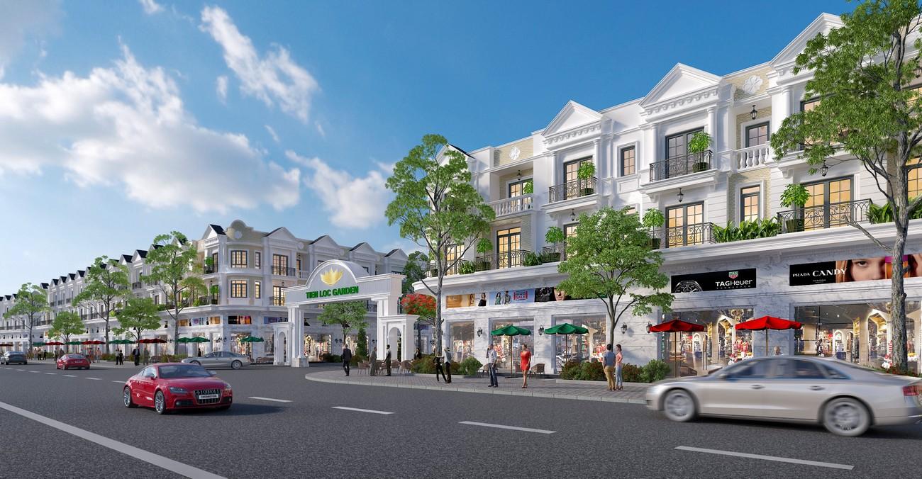 Nhà mẫu dự án shophouse Valerich Nhơn Trạch Đồng Nai