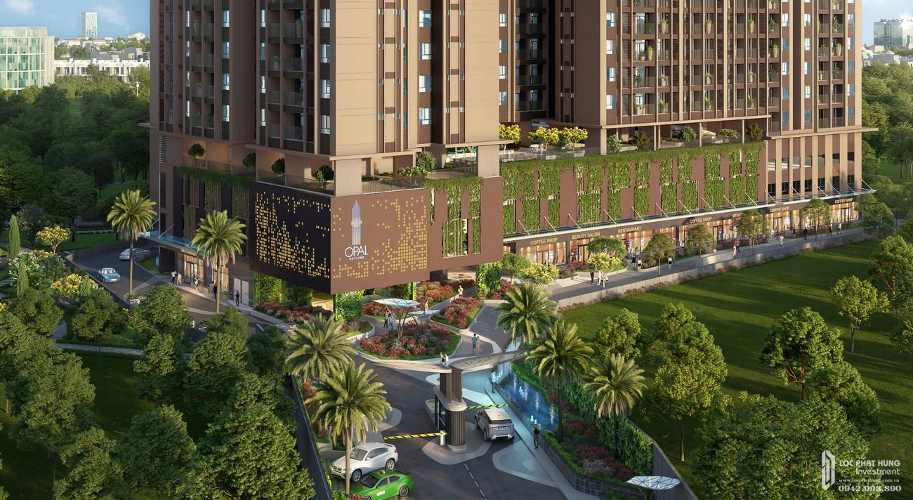 Phối cảnh tổng thể dự án căn hộ Opal Skyline Bình Dương