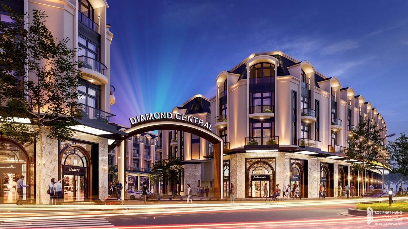 Mặt bằng tổng thể dự án nhà phố thương mại Diamond Central đường Võ Thị Sáu chủ đầu tư Gotec Land