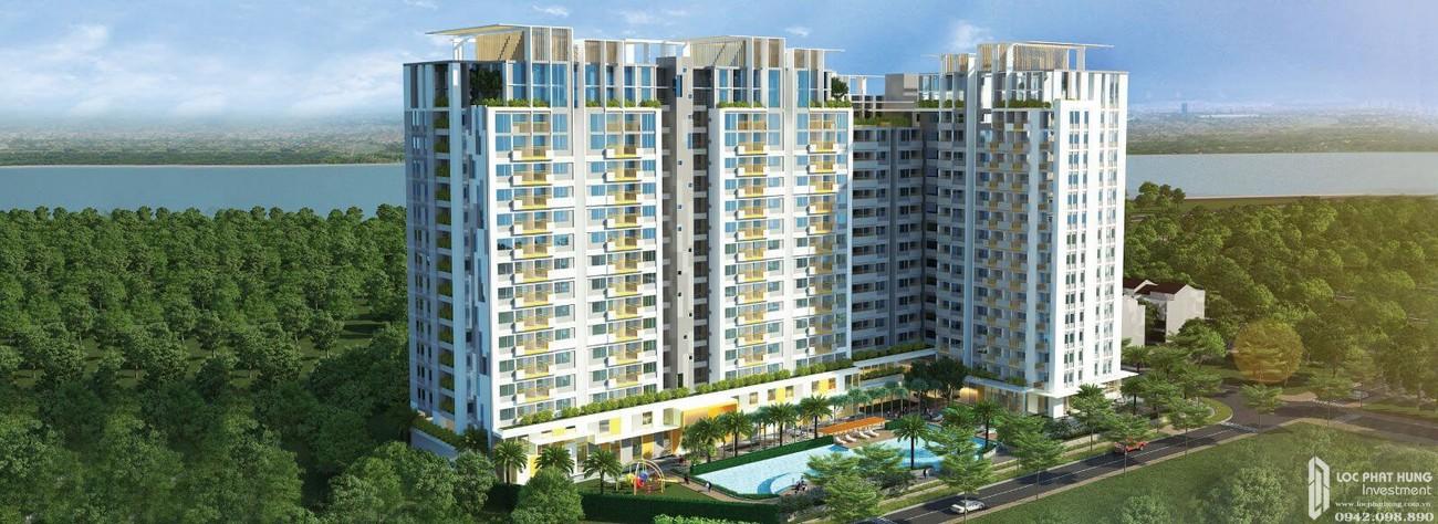 Phối cảnh tổng thể dự án căn hộ chung cư Opal Cityview Thủ Dầu Một chủ đầu tư Đất Xanh Group