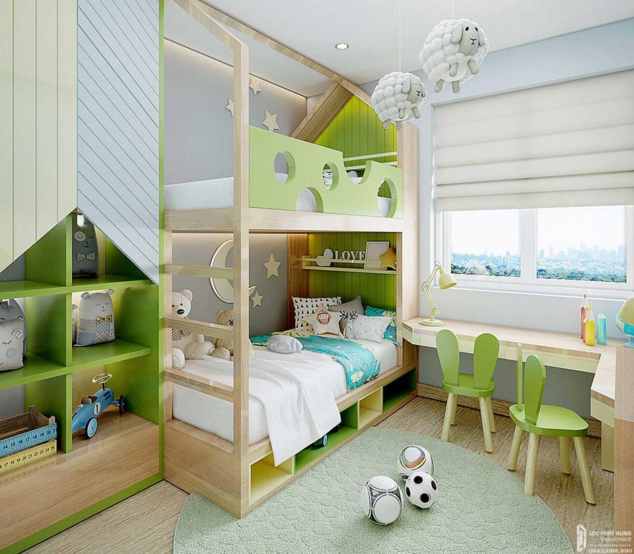 Phòng ngủ nhỏ căn hộ Icon Plaza Thuận An Bình Dương