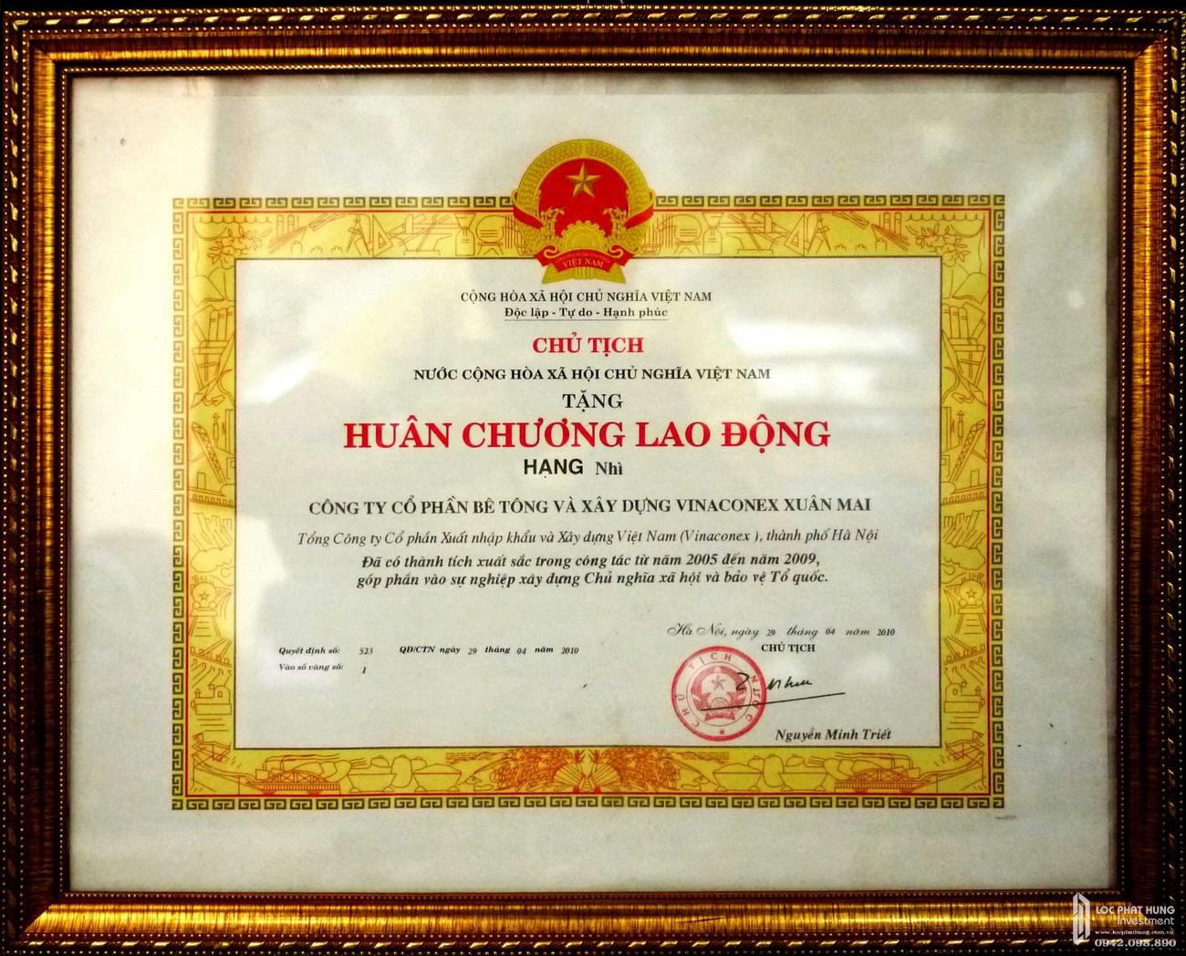Huân chương lao động - Thành tựu đạt được của chủ đầu tư Xuân Mai Corp