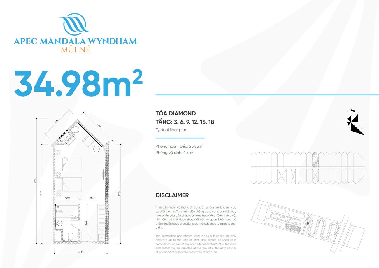 Thiết kế dự án Condotel Apec Mandala Wyndham Mũi Né Phan Thiết Đường DT716 chủ đầu tư Tập đoàn Apec