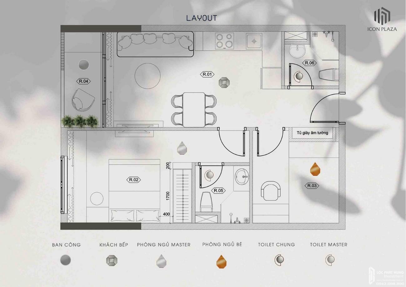 Thiết kế dự án căn hộ chung cư Icon Plaza Thuan An Đường Vòng Xoay An Phú chủ đầu tư Phú Hồng Thịnh