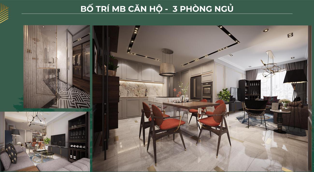 Thiết kế loại 3 phòng ngủ dự án căn hộ chung cư Anderson Park Bình Dương