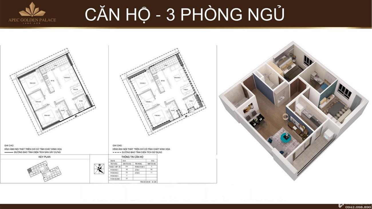 Thiết kế dự án căn hộ chung cư Apec Golden Palace Lạng Sơn đường Lê Đại Hành chủ đầu tư Apec Group