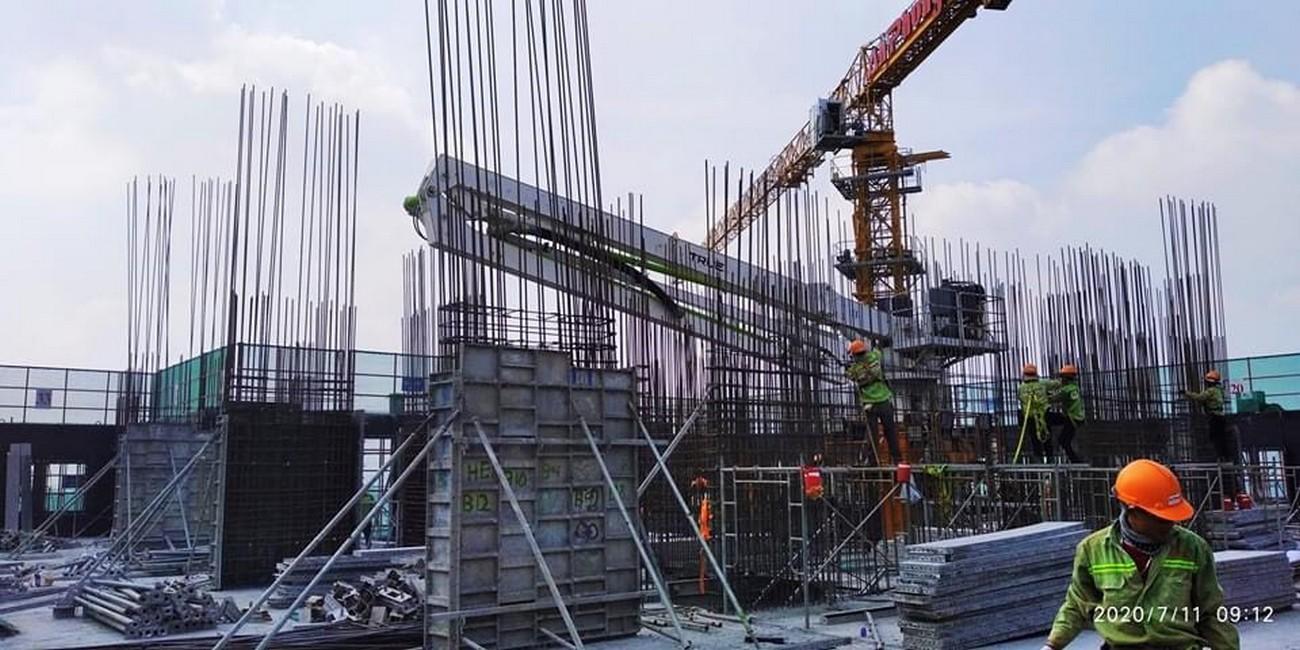 Tiến độ dự án căn hộ chung cư Charm City tháng 7/2020 Bình Dương Đường DT743 chủ đầu tư DCT GROUP