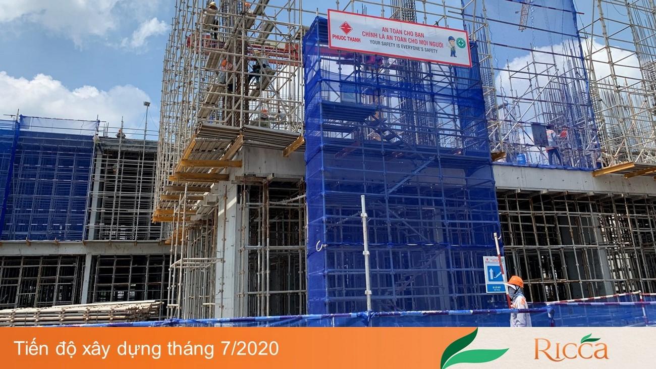 Tiến độ xây dựng dự án căn hộ Ricca Quận 9 – 07/2020