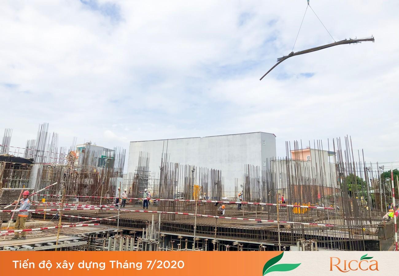 Tiến độ dự án Căn hộ chung cư Ricca Quận 9 Đường Gò Cát Phường Phú Hữu 07/2020