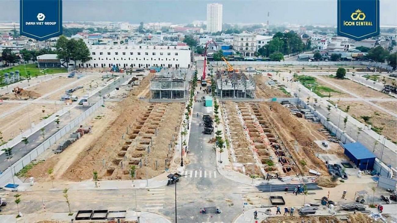 Tiến độ dự án đất nền nhà phố Icon Central Dĩ An Bình Dương chủ đầu tư Phú Hồng Thịnh 03/07/2020