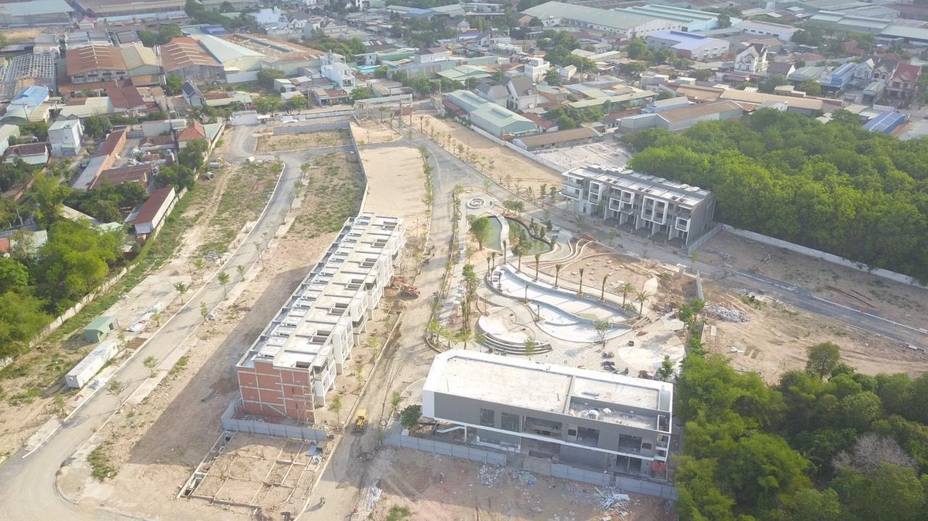 Tiến độ dự án nhà phố The Standard Tân Uyên Bình Dương CĐT An Gia 08/07/2020