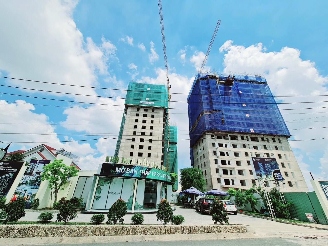 Tiến độ xây dựng Park View TP Thuận An tháng 08/2021