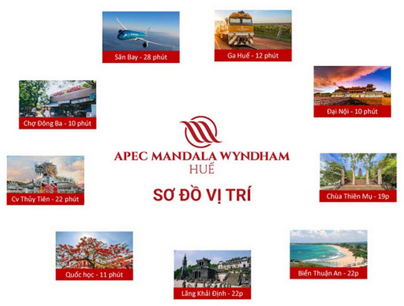 Vị trí địa chỉ dự án Condotel Apec Mandala Wyndham Huế Hương Thủy Khu Đô Thị An Vân Dương chủ đầu tư Apec Group