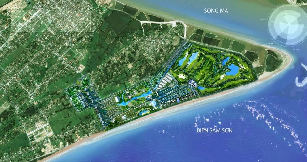 Vị trí địa chỉ dự án condotel chung cư Apec Sầm Sơn Thanh Hóa chủ đầu tư Apec Group