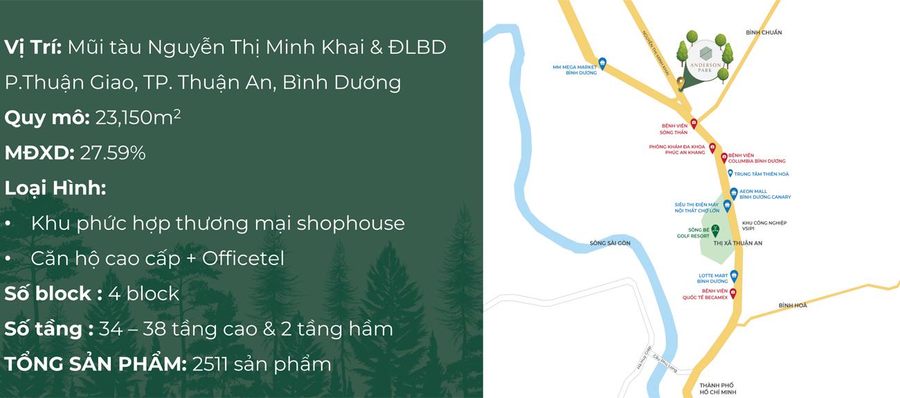 Vị trí dự án căn hộ chung cư Lavita Thuận An Bình Dương