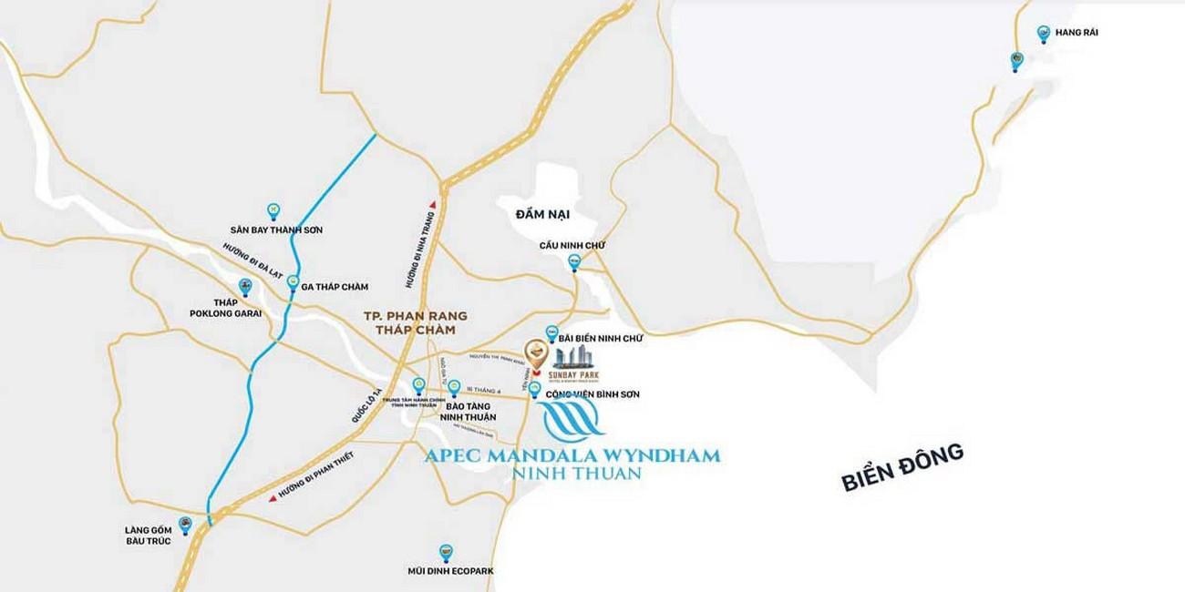 Vị trí địa chỉ dự án căn hộ chung cư Apec Dubai Ninh Thuận Đường Yên Ninh chủ đầu tư Apec Group