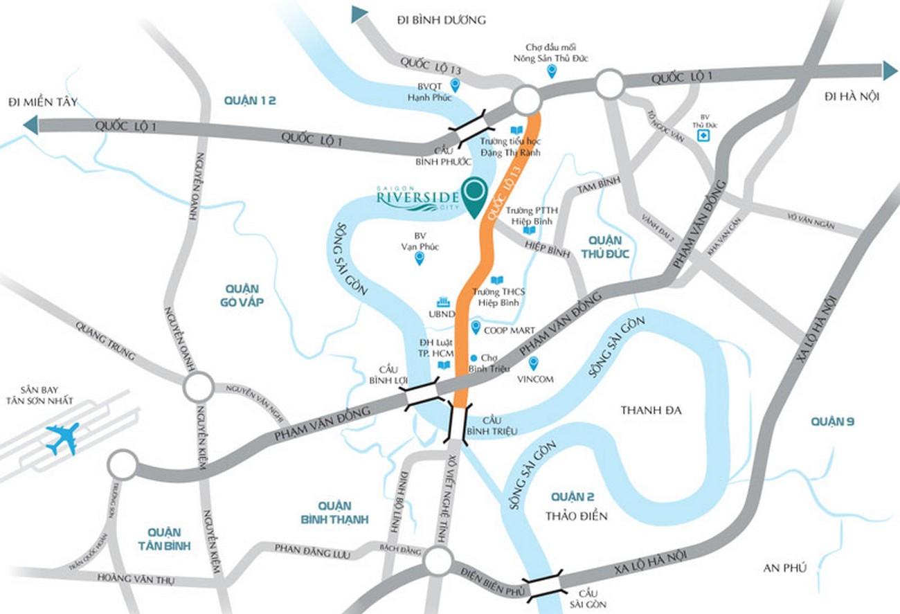 Vị trí địa chỉ dự án căn hộ chung cư LDG River đường 623 OL13 quận Thủ Đức chủ đầu tư LDg Group