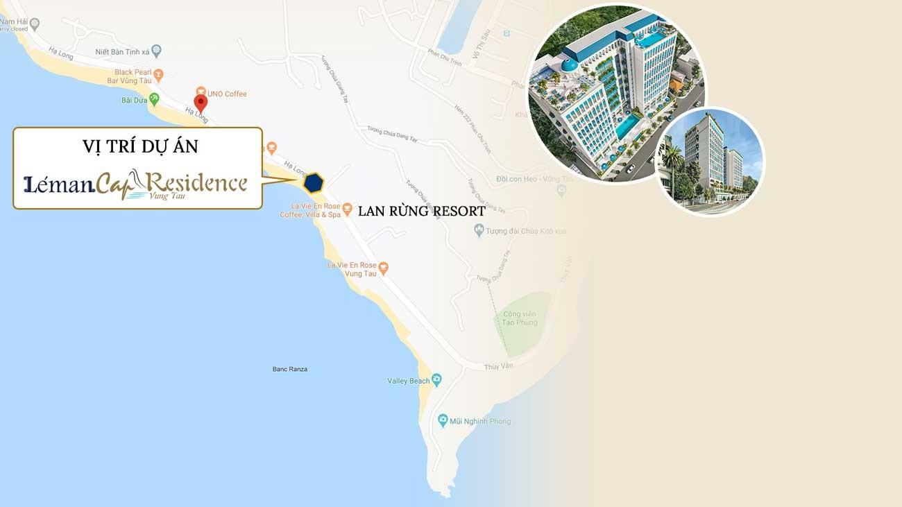 Vị trí dự án căn hộ Leman Cap Residence