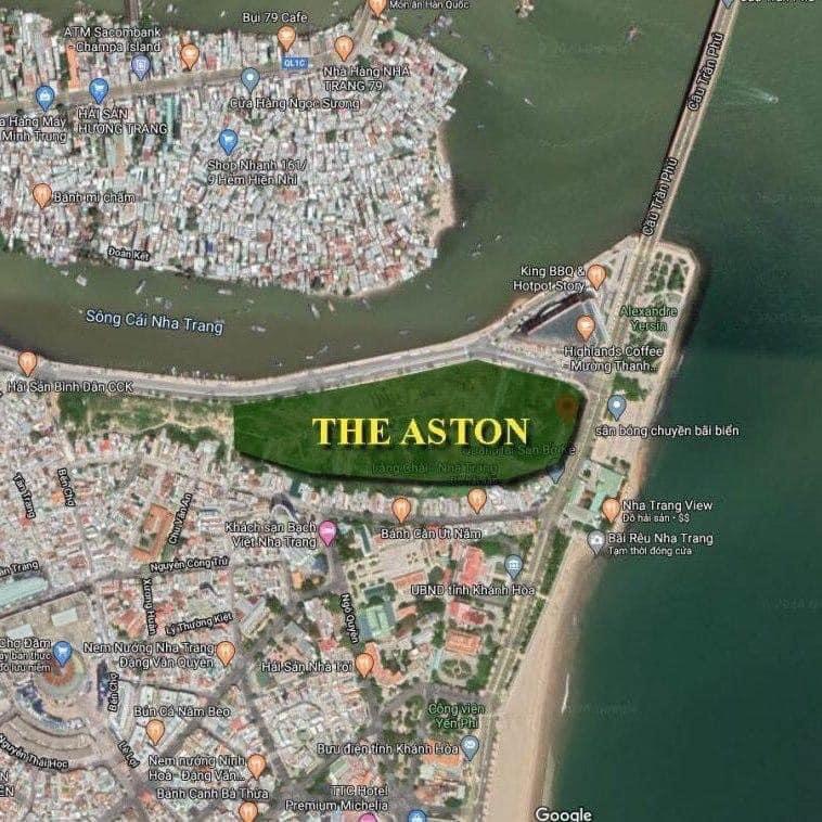 Vị trí dự án căn hộ The Aston Nha Trang