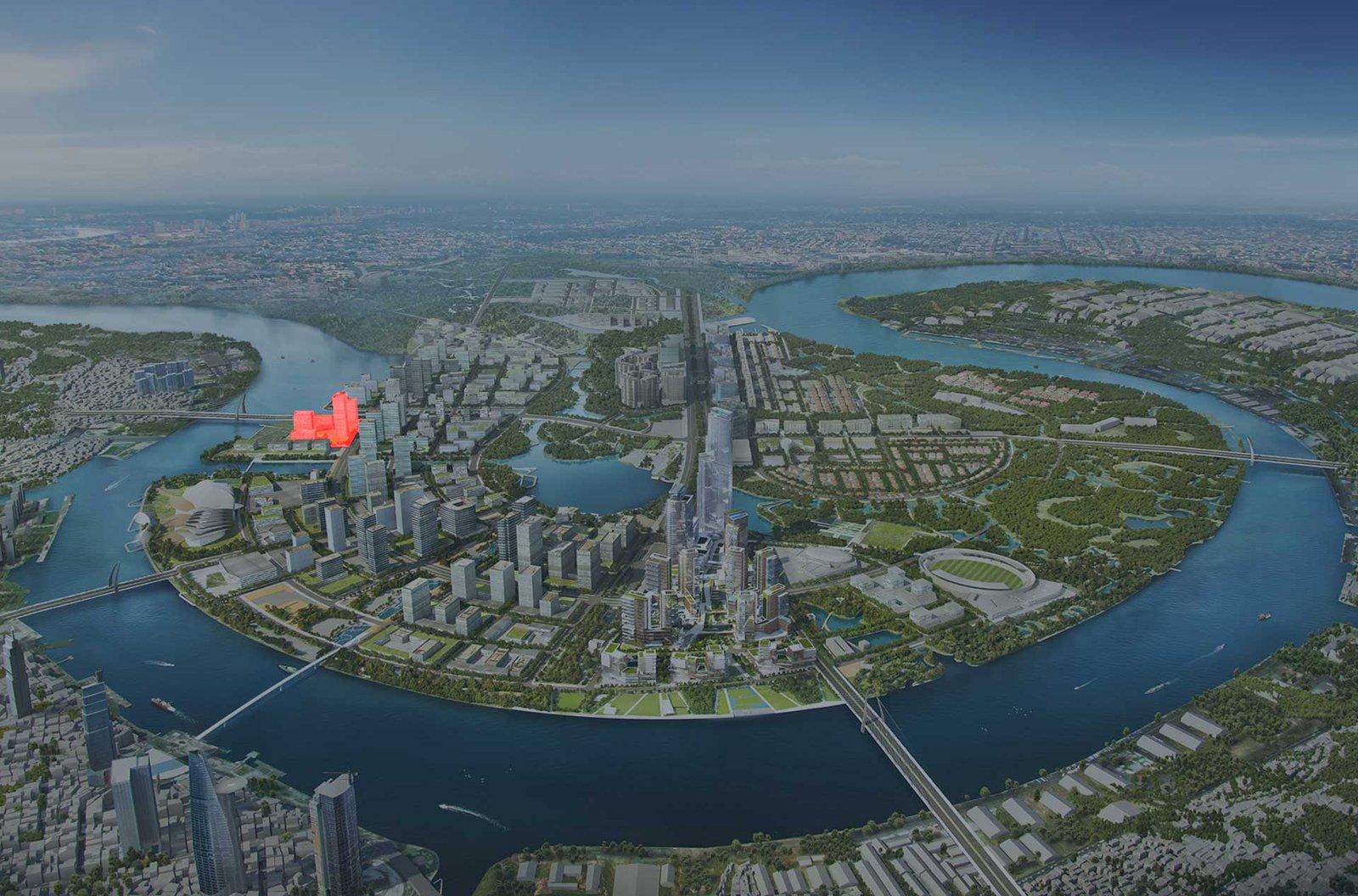 Cho thuê dự án căn hộ chung cư The River Quận 2 Đường Nguyễn Cơ Thạch chủ đầu tư Refico